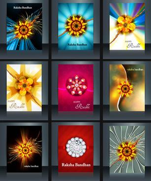 raksha bandhan beautiful celebration 9 brochure collection presentation reflection design