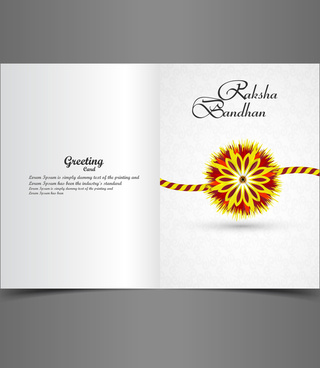 raksha bandhan bright colorful greeting card rakhi indian festival vector
