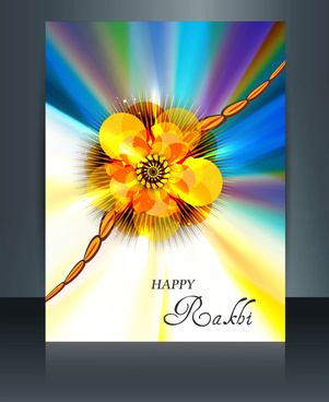 raksha bandhan festival vector illustration template brochure design