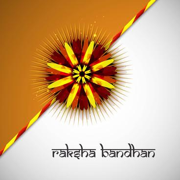 rakshabandhan beautiful colorful card indian hindu festival design