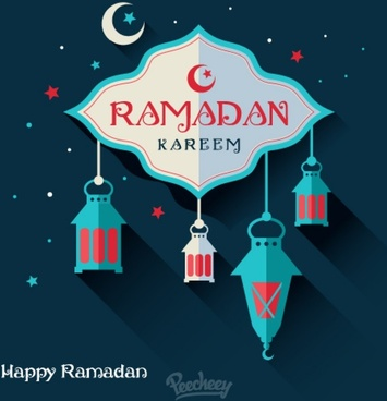 ramadan holiday greeting card