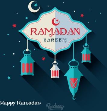 ramadan holiday greeting card