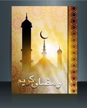 ramadan kareem flyer cover vector