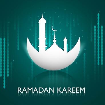 ramadan kareem greeting card colorful design