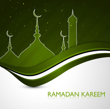 ramadan kareem greeting card green colorful design