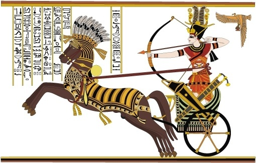 ramses ii battle of stone diego card vector