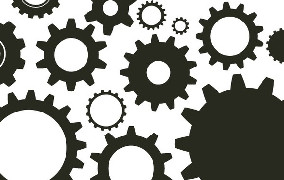 Random Free Vectors � Part 10 Gears