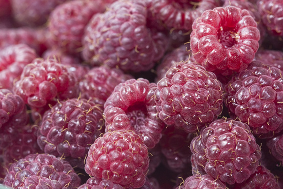 raspberries close