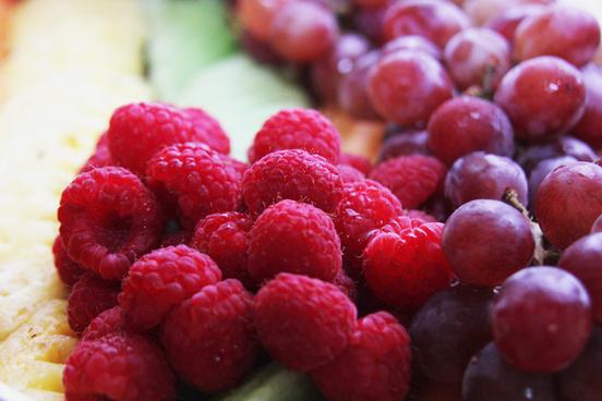 raspberries fruit platter