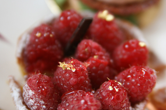 raspberry touched with gold