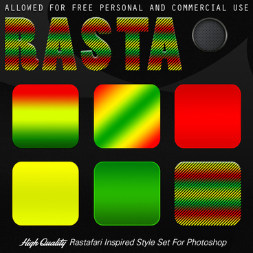 rasta photoshop style set