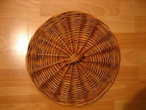 rattan basketry cover of lichen