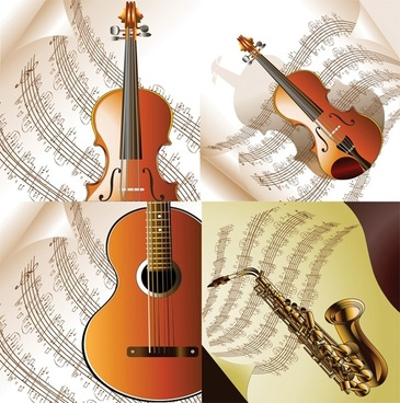 read music and musical instruments vector