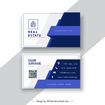 real estate business card template contrast 3d decor