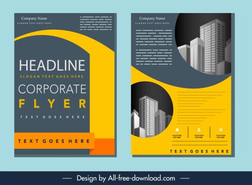 real estate flyer template elegant design buildings decor