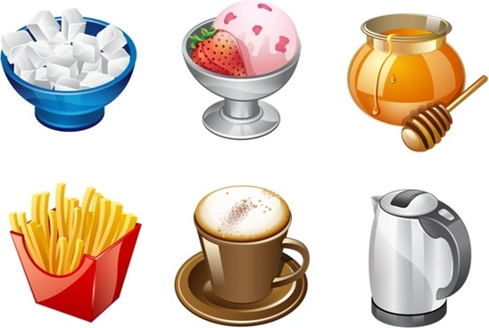 Real Vista Food Icons icons pack