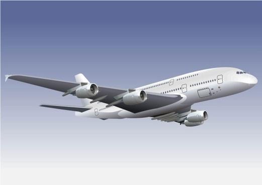 realistic aircraft 01 vector
