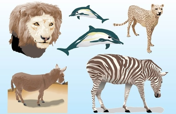 realistic animals vectors