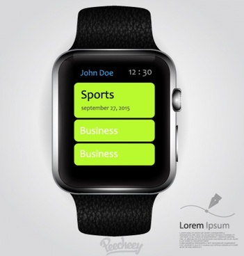 realistic apple watch mockupdesign
