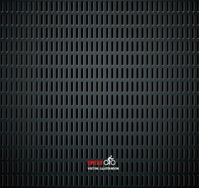 realistic black metallic background vector