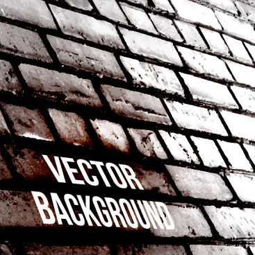 realistic brick wall vector background