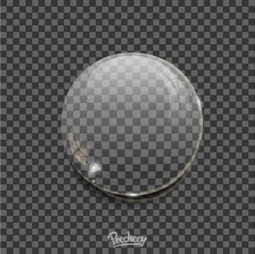 realistic bubble on transparent background