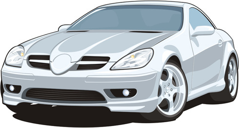 realistic car creative design vector template