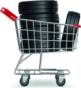 Realistic car tires illustration design vector