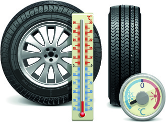 realistic car tires illustration design vector