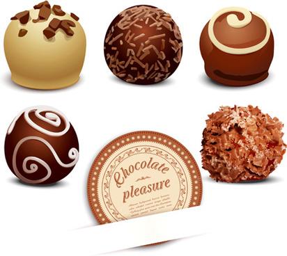realistic chocolate design vectors