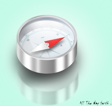 realistic compass psd layered