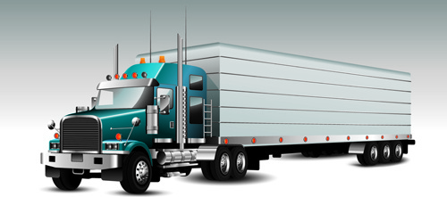 realistic delivery truck vector design graphics