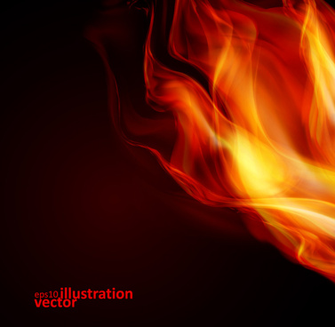 realistic fiery background illustration vector