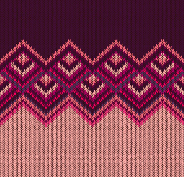 realistic knitted fabric pattern vector