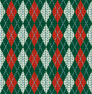 realistic knitting textured pattern vector