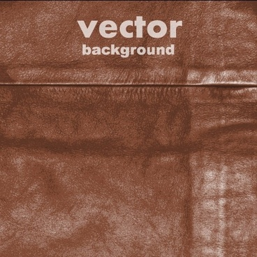 realistic leather vector background