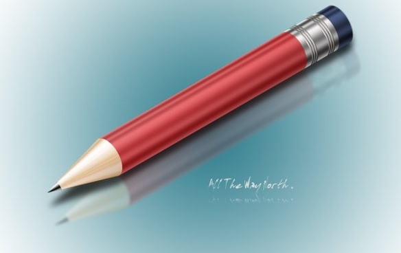 realistic pencil psd layered source files