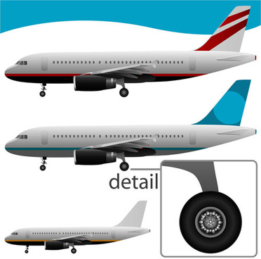 realistic planes design vector graphic