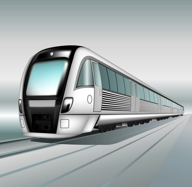 realistic speed train vector