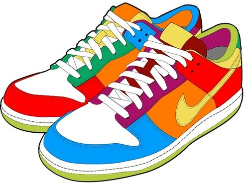 realistic sports shoes vector design