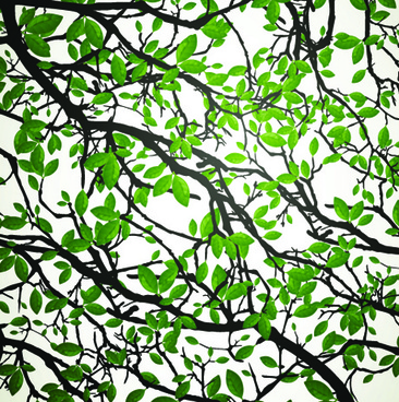 realistic tree leaf vector