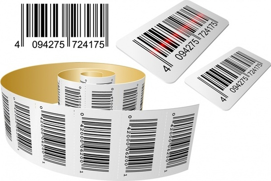 bar code template modern 3d realistic sketch