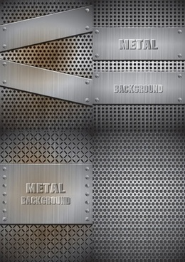 metal backgrounds shiny grey realistic design