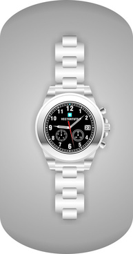 realistic watch creative vector template