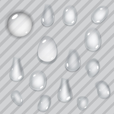 realistic water drop vector background