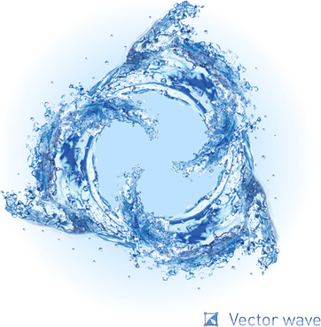 realistic water wave vector background