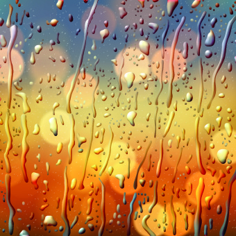 realistic wet glass background vector