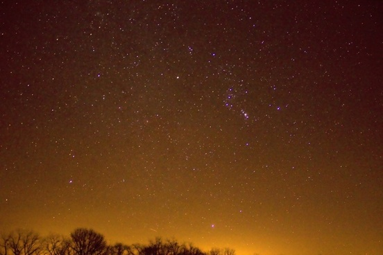 really bright stars at hogback prairie state natural area wisconsin