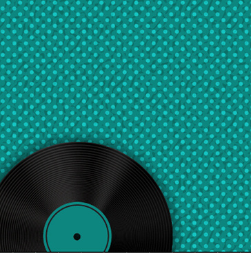 record with plaid pattern background vector