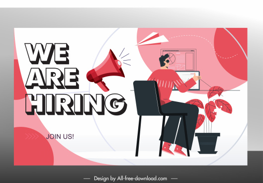 recruitment poster work place sketch cartoon design